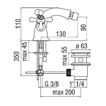 GRAZIA RUBINETTO BIDET 2 MANIGLIE codice prod: GRC5119/6CR product photo Foto1 L2