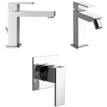 SET RUBINETTERIA LAVABO + BIDET + DOCCIA FEEL product photo Default L2