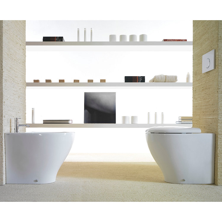 SERIE BOWL+ FILO MURO WC + BIDET + SEDILE product photo