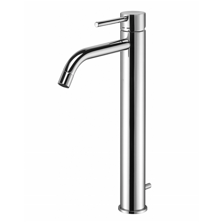 "LIGHT LIG085 MISCELATORE LAVABO  PROLUNGATO PILETTA 1""1/4 CROMATO codice prod: LIG085CR product photo"
