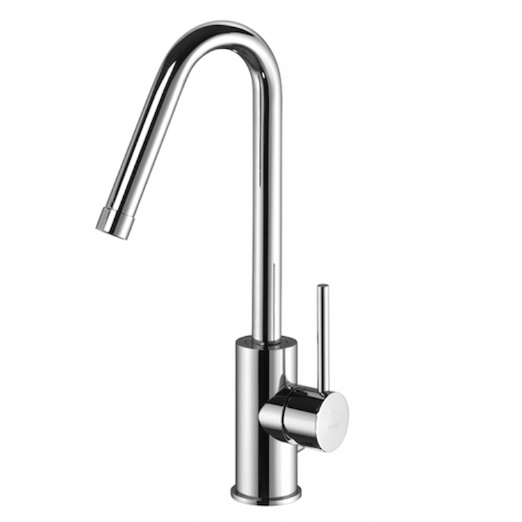 "LIGHT LIG977 MISCELATORE LAVABO BOCCA ALTA GIREVOLE PILETTA 1""1/4 CROMATO codice prod: LIG977CR product photo"