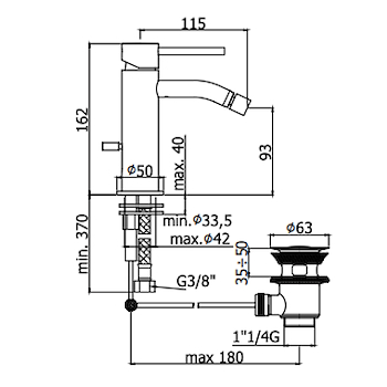 LIGHT RUBINETTO BIDET MONOLEVA codice prod: LIG131CR product photo Foto1 L2