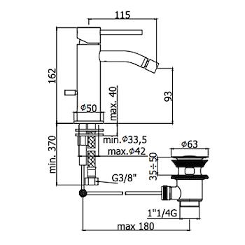 LIGHT RUBINETTO BIDET MONOLEVA codice prod: LIG135CR product photo Foto1 L2
