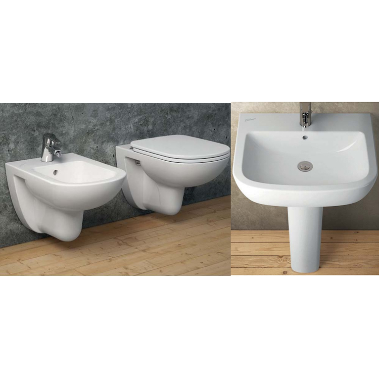 SERIE GEMMA 2 WC J003001 + BIDET J003101 + SEDILE J523301 + LAVABO J521101 product photo