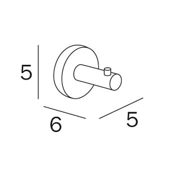 GEALUNA A1020A PORTA ABITI 6 CM CROMATO codice prod: A1020ACR product photo Foto1 L2