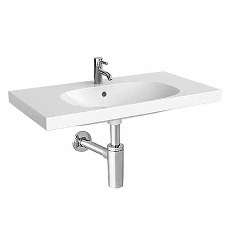 ACANTO 500.632.01.2 LAVABO SOSPESO COMPATTO 75 CM BIANCO codice prod: 500.632.01.2 product photo