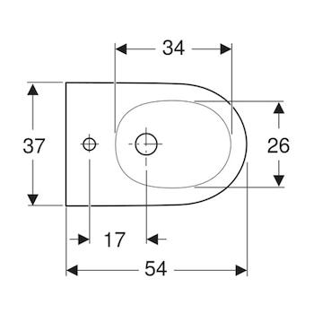 ONE GEBERIT BIDET SOSPESO BIANCO codice prod: 500.690.01.1 product photo Foto1 L2