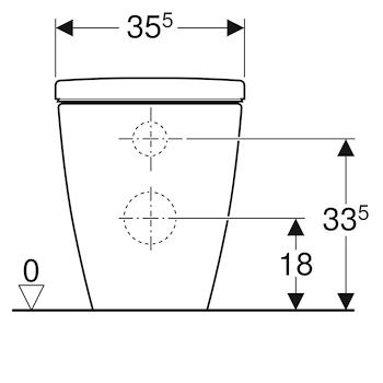 ICON WC MULTI BTW TRASLATO CON SEDILE CON FISSAGGI 35,5X56 FILO PARETE BIANCO codice prod: 500.828.00.1 product photo Foto2 L2