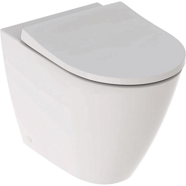 ICON WC RIMFREE MULTI TRASLATO CON SEDILE SLIM RALLENTATA CON FISSAGGI 36,6X56 FILO PARETE BIANCO codice prod: 500.827.00.1 product photo