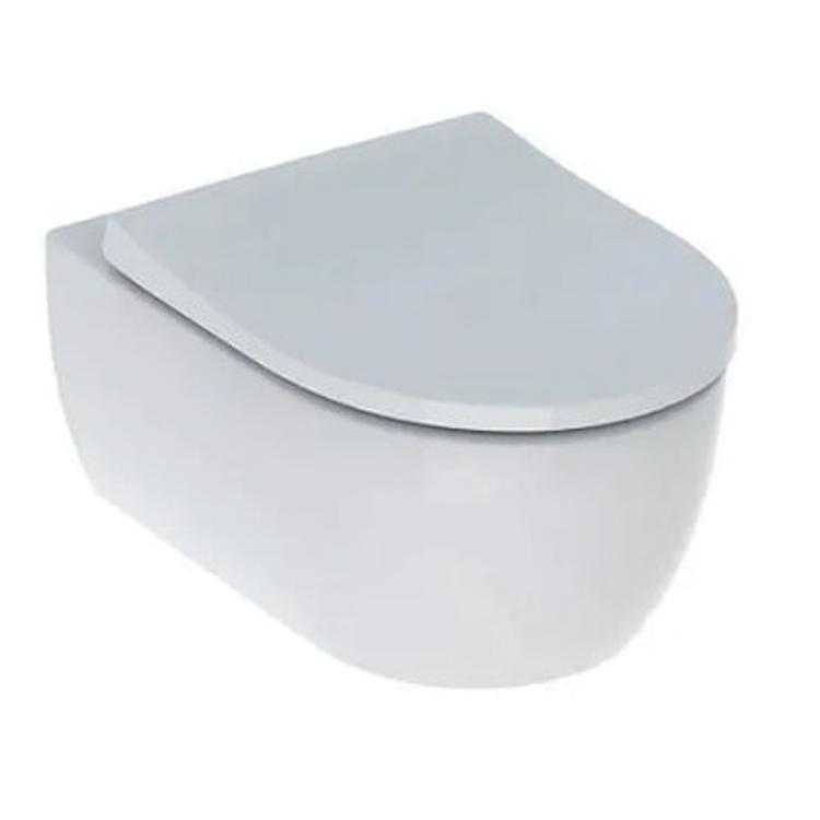 ICON WC RIMFREE 35,5X53 SOSPESO CON SEDILE SLIM CHIUSURA QUIK RELASE CON FISSAGGI SOSPESO BIANCO codice prod: 500.809.00.1 product photo