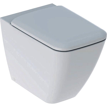 ICON SQUARE WC RIMFREE SEDILE QUICK RELEASE CON FISSAGGI A PAVIMENTO 35X56 BIANCO codice prod: 500.825.00.1 product photo Default L2