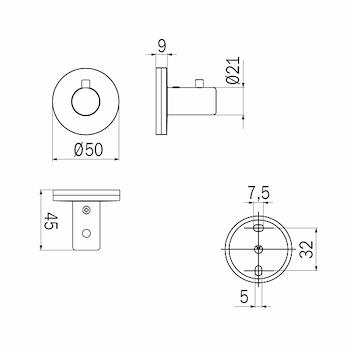 TOUCH A46200 PORTA ABITI SINGOLO CROMATO codice prod: A46200CR product photo Foto1 L2