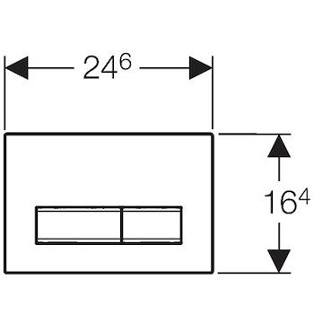 SIGMA 50 115.788.JV.2 PLACCA 2 TASTI CROMATO/CEMENTO codice prod: 115.788.JV.2 product photo Foto1 L2