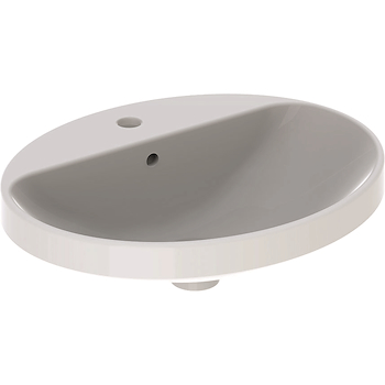 VARIFORM 500.720.01.2 LAVABO INCASSO OVALE 55X45 CON PIANO RUBINETTO SOPRAPIANO BIANCO codice prod: 500.720.01.2 product photo Default L2