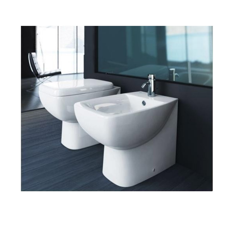 SERIE CANTICA FILO MURO WC T317161  + BIDET T508661  + SEDILE product photo