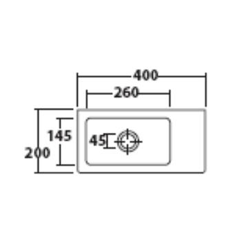 PLUS DESIGN 6030M LAVABO APPOGGIO BIANCO codice prod: 6030M product photo Foto1 L2