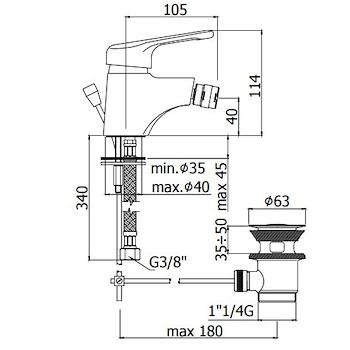 NETTUNO NT130 MISCELATORE BIDET CROMATO codice prod: NT130CR product photo Foto1 L2