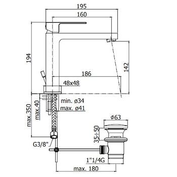 ELLE-EFFE EL074CR MISCELATORE LAVABO CROMATO codice prod: EL074CR product photo Foto1 L2