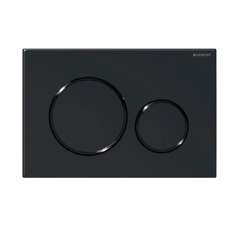 SIGMA 20 PLACCA 2 TASTI NERO codice prod: 115.882.16.1 product photo