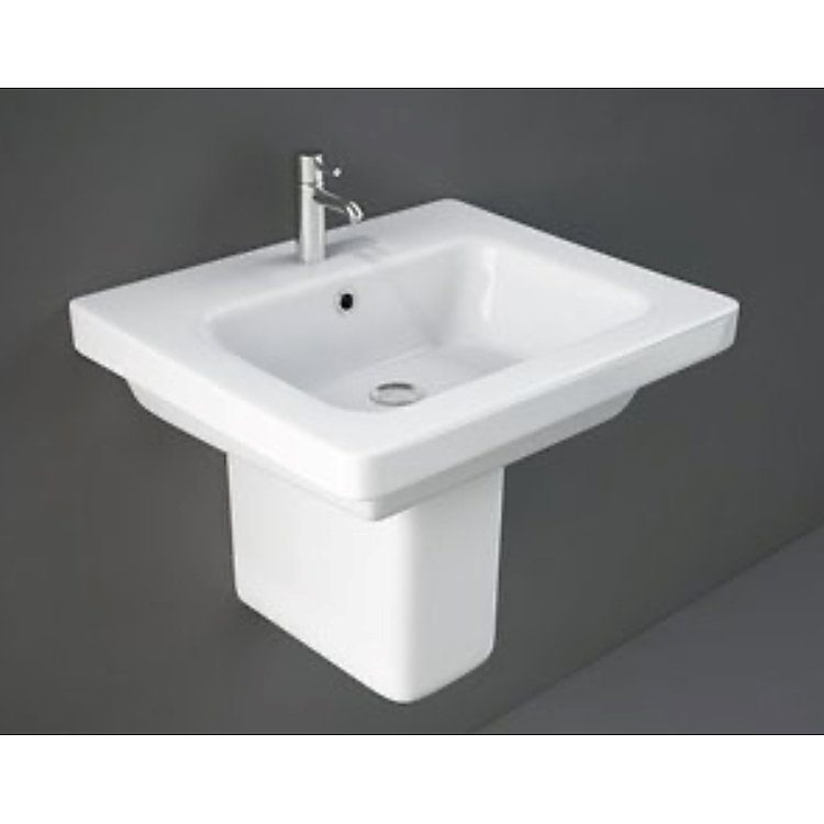 RESORT LAVABO A COLONNA 55X46 BIANCO ALPINO codice prod: REWB00002 product photo