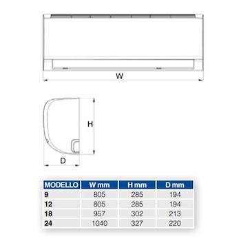 DIAMANT S 12 2CO9A02F UNITA' INTERNA POMPA CALORE INVERTER R32 codice prod: 2CO9A02F product photo Foto1 L2