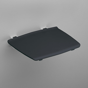 SEDILE DOCCIA RIBALTABILE 32,5X32,5 ALLUMINO LUCIDO NERO codice prod: 5469KN product photo Default L2