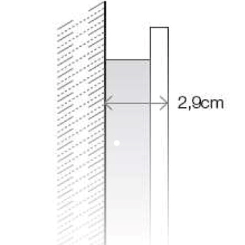 CONFORT LINE LED LC0319 SPECCHIO LUNGHEZZA 105 ALTEZZA 70 ILLUMINAZIONE LATERALE codice prod: LC0319 product photo Foto2 L2