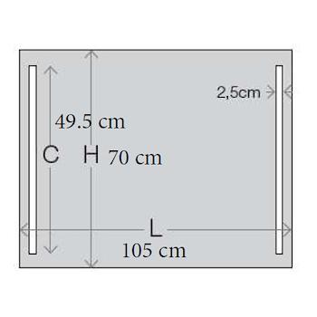 CONFORT LINE LED LC0319 SPECCHIO LUNGHEZZA 105 ALTEZZA 70 ILLUMINAZIONE LATERALE codice prod: LC0319 product photo Foto3 L2