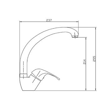PRINCE P106 MISCELATORE LAVELLO CON BOCCA GIREVOLE CROMATO codice prod: P106CR0000 product photo Foto1 L2