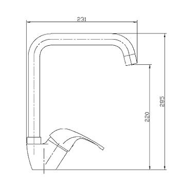 PRINCE P110 MISCELATORE LAVELLO CON CANNA GIREVOLE CROMATO codice prod: P110CR0000 product photo Foto1 L2