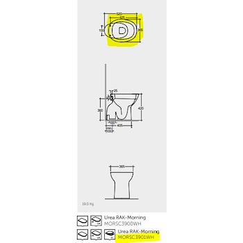 MORNING MORSC3901WH SEDILE FLAT RALLENTATO BIANCO codice prod: MORSC3901WH product photo Foto1 L2