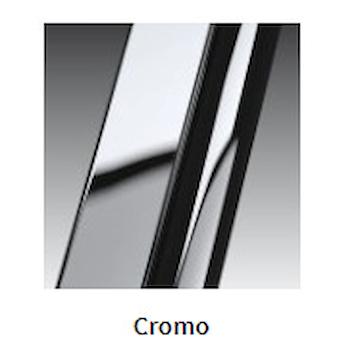 OPERA PH+FH LATO SCORREVOLE CON FISSO IN LINEA DX CRISTALLO TRASPARENTE PROFILO CROMATO codice prod: OPEPH117D-1K product photo Foto1 L2