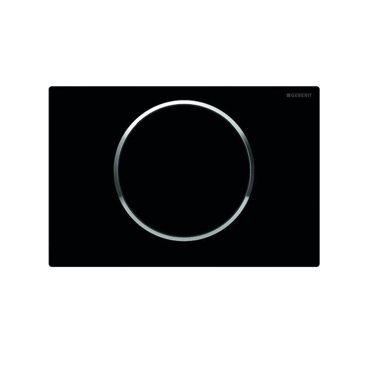 SIGMA10 115.758.KM.5 PLACCA COMANDO 1 TASTO 115 NERO/CROMATO/NERO codice prod: 115.758.KM.5 product photo