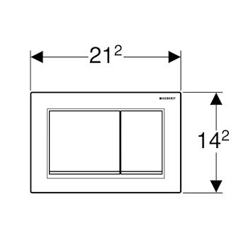 OMEGA30 115.080.KJ.1 PLACCA COMANDO 2 TASTI BIANCO/CROMATO codice prod: 115.080.KJ.1 product photo Foto1 L2