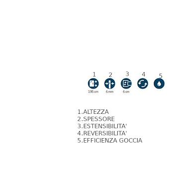 ZEPHYROS 2P P.DOCCIA 1 ANTA SCORREVOLE E 1 FISSA IN LINEA TRASPARENTE CROMATO 116/122 codice prod: ZEPHYR2P116-1K product photo Foto1 L2