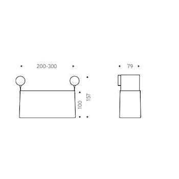 DOT BASKET CONTENITORE L.20 CM.NERO COVER NICKEL codice prod: EVDT71NK product photo Foto1 L2