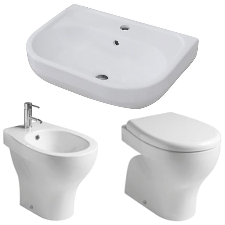 SERIE EDEN WC + BIDET + SEDILE + LAVABO product photo