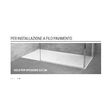 CUSTOM PIATTO DOCCIA ACRILICO 160X80 H3,5 BIANCO FONDO LISCIO codice prod: CU160804-30 product photo Foto2 L2