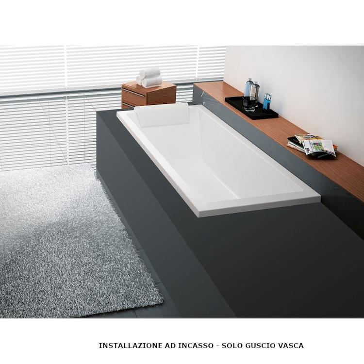CALOS 2.0 VASCA INCASSO 170X80 BIANCO LUCIDO codice prod: C2117080-A product photo