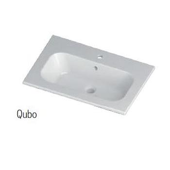 SLOT BASE MONOBLOCCO SOSPESO 2 CASS.TI L80 P51,5 H55 CONSOLLE QUBO SPECCHIO/LAMP.LED codice prod: SLO8015 product photo Foto1 L2