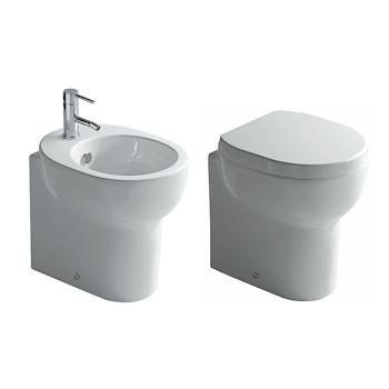 SERIE M2 A TERRA WC + BIDET + SEDILE RALLENTATO product photo Default L2