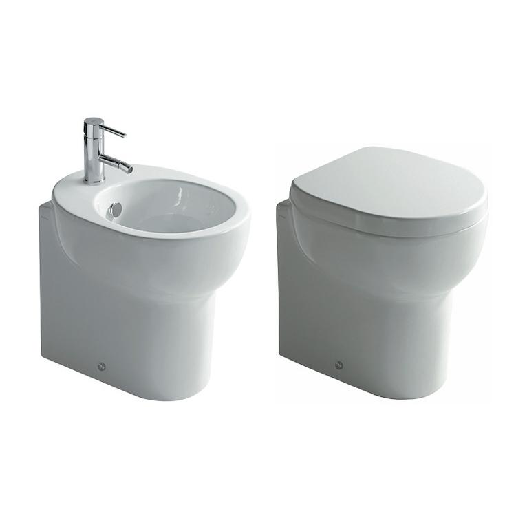 SERIE M2 A TERRA WC + BIDET + SEDILE RALLENTATO product photo