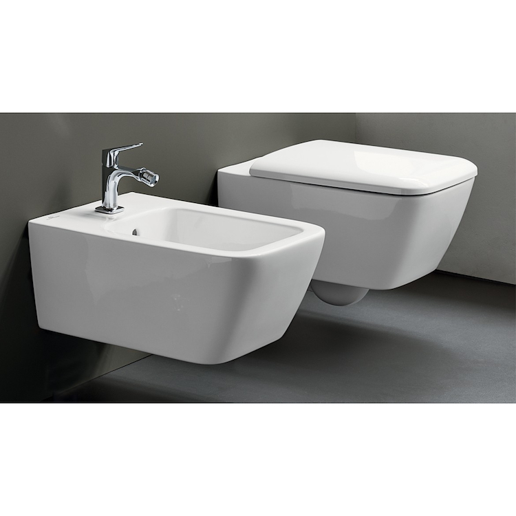 SERIE ICON SQUARE SOSPESO WC + BIDET + SEDILE RALLENTATO product photo