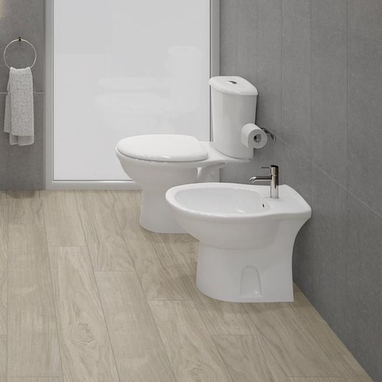 SERIE KARLA A TERRA WC + BIDET + SEDILE product photo