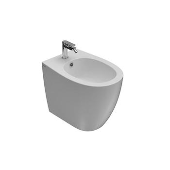 4ALL WC SENZA BRIDA MD004BI + BIDET CON FISSAGGI GHOST MD010BI + SEDILE RALLENTATO MDR20BI product photo Foto1 L2