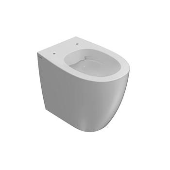 4ALL WC SENZA BRIDA MD004BI + BIDET CON FISSAGGI GHOST MD010BI + SEDILE RALLENTATO MDR20BI product photo Foto2 L2