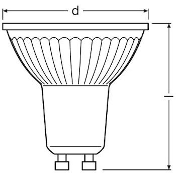 LAMPADINA LED FORMA A SPOT CHIARA ATTACCO GU10 EQUIVALENTE 50W codice prod: LED112803BLXBOX1 product photo Foto4 L2