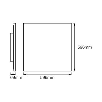 PANNELLO SMART+ WIFI PLANON FRAMELESS SQUARE TW 60X60 codice prod: LUM484436WF product photo Foto5 L2