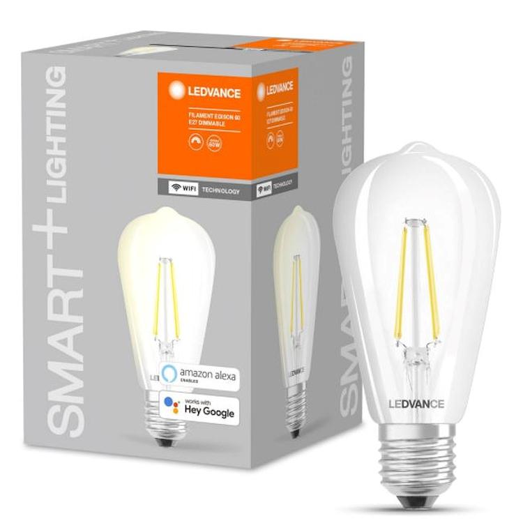 SMART+ WIFI CLASSIC EDISON 60 DIM E27 FIL CL codice prod: SMT208575BT product photo