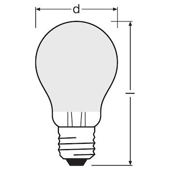 CLASSIC A 100 WW E27 FIL FR codice prod: LED115439BLXBOX1 product photo Foto4 L2